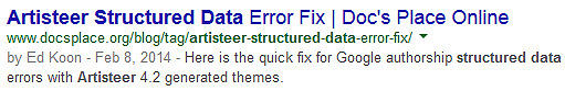 This is one of my Google authorship enhanced search results showing thumbnail and circles removed.