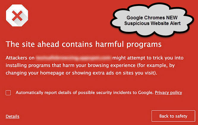google malware red alert