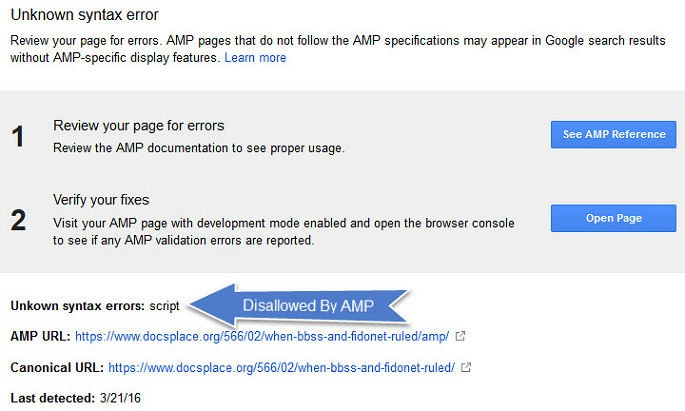 AMP Script Errors CloudFlare WordPress