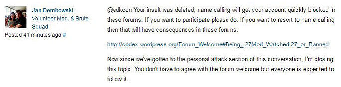 WordPress Support Forum Mod Jan Dembowski
