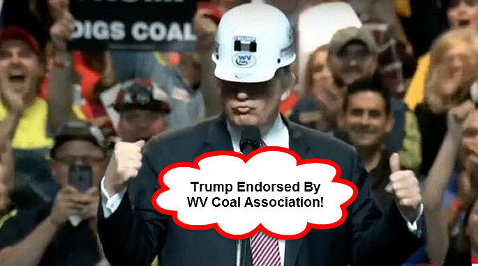 Trump Endorsed by West Virginia Coal Miners Association