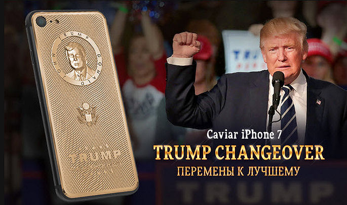 Caviar Russian Gold iPhone Honors Donald Trump