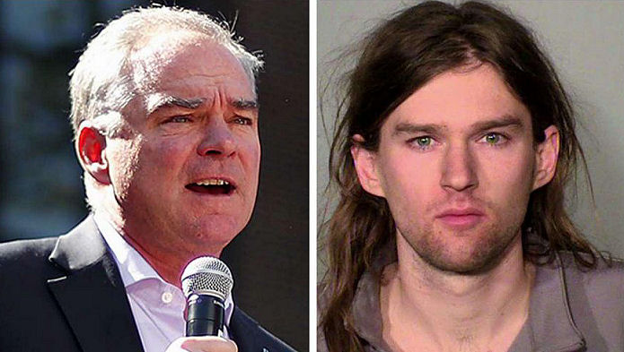 Linwood Micheal Kaine arrsted for Roiting at Trump Rally