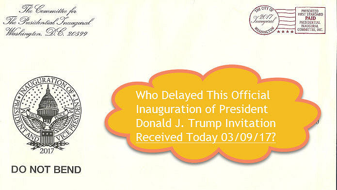Donald J. Trump Inauguration Invitation