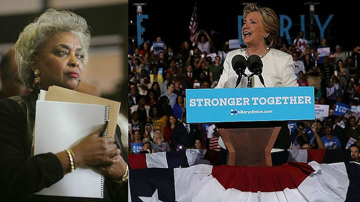 Brenda Snipes Broward with Hillary Clinton