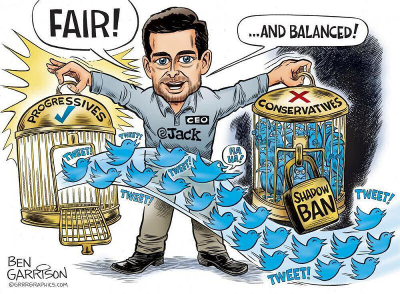 Twitter CEO Jack Dorsey Censoring Conservatives