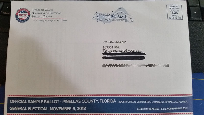 Pinellas Sample Midterm Ballot