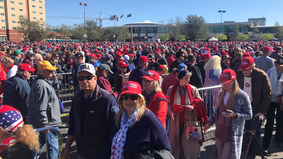 trump rally charleston 02.28.20